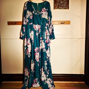 Plus Size 2x Floral Extra Maxi Dress by Pinkblush